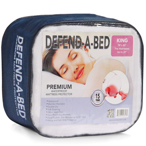 Classic Brands Defend-A-Bed Premium Hypoallergenic Waterproof Mattress Pad, Vinyl Free