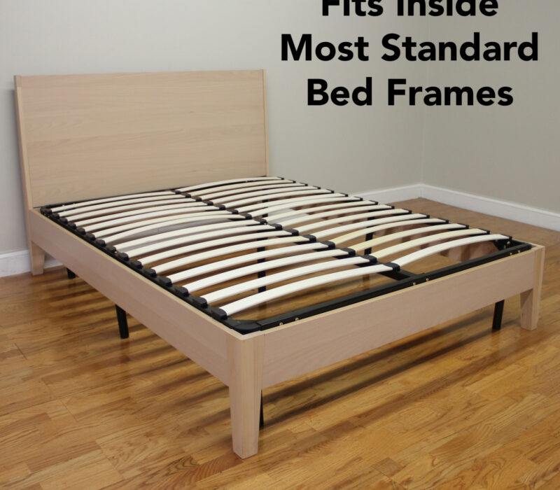 Europa Wood Slat Amp Metal Bed Frame Classic Brands