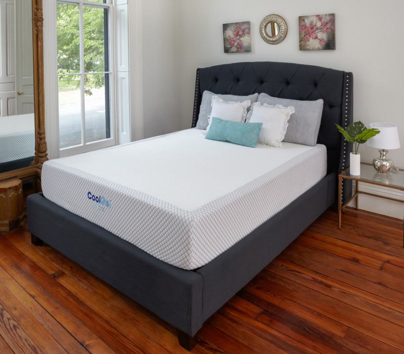 Cool Gel Jade Latex and Gel Memory Foam 10.5-Inch Mattress