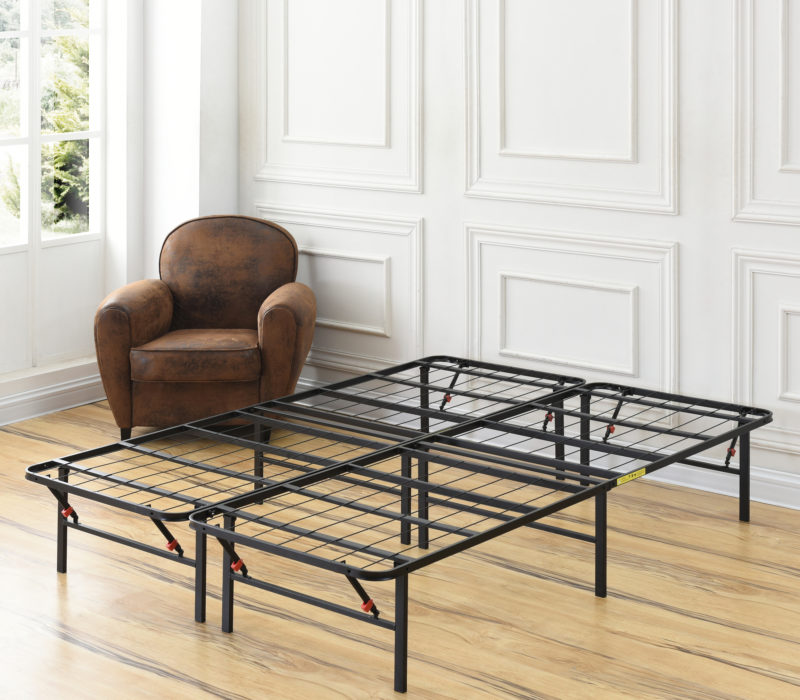 Classic Brands Hercules Heavy-Duty Adjustable Platform 14-Inch Metal Bed Frame Mattress Foundation or Box Spring Twin
